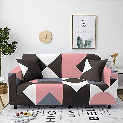 Funda Sofas 2 y 3 Plazas Abstracto Negro Fundas para Sofa con Diseño Elegante Universal,Cubre Sofa Ajustables,Fundas Sofa Elasticas,Funda de Sofa Chaise Longue,Protector Cubierta para Sofá