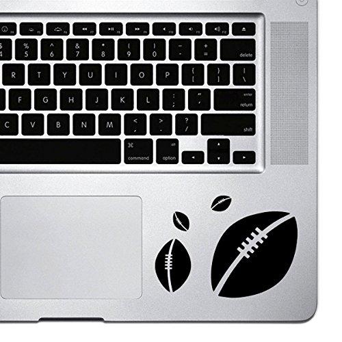 StickAny Palm Serie Fußball Explosion Aufkleber für MacBook Pro, Chromebook, und Laptops (Standard) Schwarz Schwarz