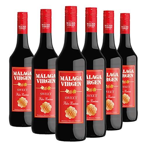 Málaga Virgen - Pack 6 botellas de 75 cl - Vino de licor dulce D.O.'MÁLAGA'