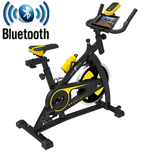 Nero Sports Bluetooth Upright Exercise Bike Indoor Studio Cycles Aerobic...