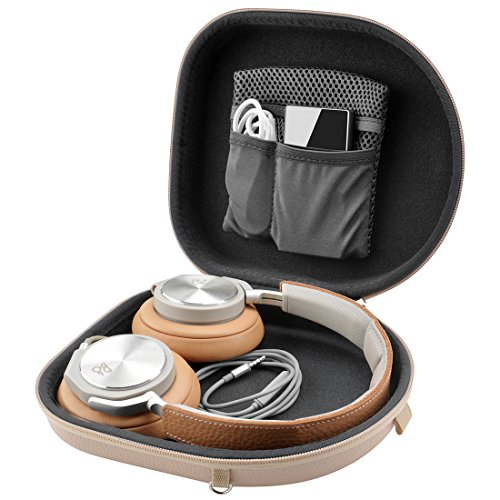 Linkidea Case for B&O Play H2, H6, H8, H9, H9i, Sony XB950B1 XB950N1 XB950BT Headphones/Hard Carrying Bag/Headset Protective Travel Bag with Space for Cable, Charger and Accessories (Flesh Tone)