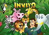Edition Colibri 10 inviti per Festa di Compleanno; Motivo: Animali dello Zoo / inviti di Compleanno per Bambini / in Italiano (10968 IT)