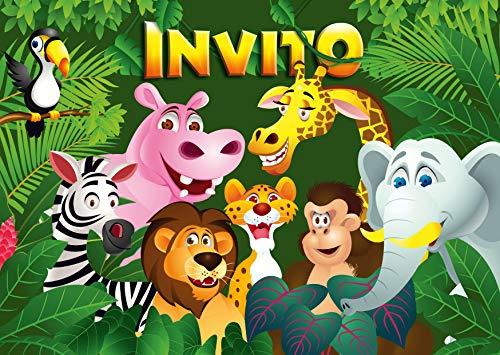 Edition Colibri 10 inviti per Festa di Compleanno; Motivo: Animali dello Zoo / inviti di Compleanno...