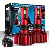 NOVSIGHT H7 LED Ampoules Phare 60W(30Wx2) 10000LM(5000LMx2) Kit de Conversion Ampoules pour Voiture 6000K Blanc IP68 Etanche Garantie 2 Ans