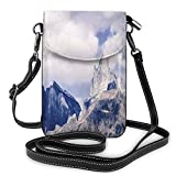 Jiger Women Small Cell Phone Purse Crossbody,Craggy Peaks In Southeast Alaska Fall Season Mountains Landscape Photo