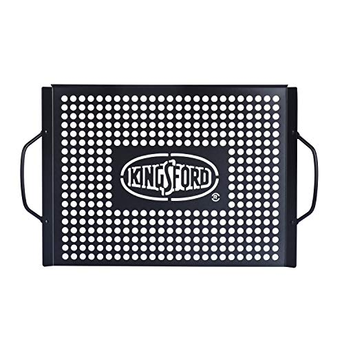 Kingsford Grilling BB0463 Heavy Duty Non-Stick Grill Topper, Rust Resistant Pan with Handles