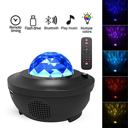 Mondnachtlicht Sternenhimmel Nachtlicht LED-Projektor Bunter Stern Blinklampe Fernbedienung Bluetooth Music Player