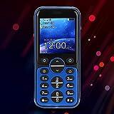 Wosune Mini dialer, Telefono Cellulare a Doppia Scheda Semplice e Vivace, Regalo Esterno di Piccole Dimensioni, Mezza età e Anziani, utilizzo per Uomo d'Affari(Blue)