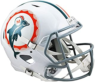 Riddell Miami Dolphins 1966 Tribute Officially Licensed Speed Full Size Replica Football Helmet