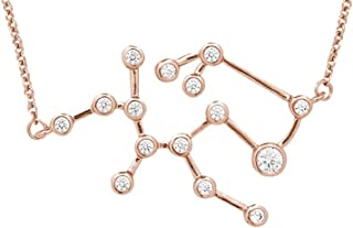 Women's Zodiac Necklace - 'When Stars Align' Constellation Necklace, Rose Gold Plated