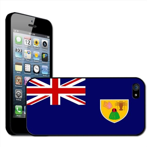 Fancy A Snuggle beschermhoes voor Apple iPhone 5, motief nationale vlag Turks en Caicos