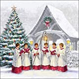 Tovaglioli di carta Lunch/Party/festa circa 33 x 33 cm – Singing Choir – Autunno – Inverno – Natale – ideale come regalo e decorazione da tavolo.