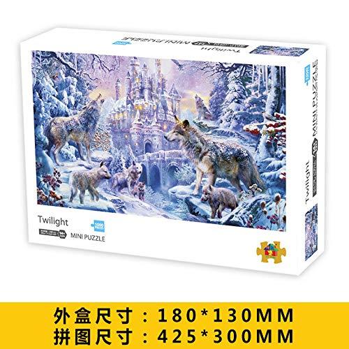 LZLM Jigsaw Puzzle Juguete Adulto Mini 1000 Piezas Rompecabezas Rompecabezas Inteligencia Juguetes Crepúsculo