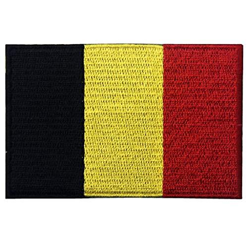 EmbTao Belgien Flagge National Bestickter Aufnäher zum Aufbügeln/Annähen