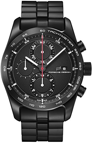 Porsche Design Chronotimer Series 1 6010.1.01.001.01.2 - Reloj de pulsera, color negro mate