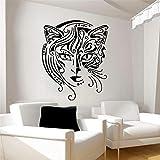 zqyjhkou Diseño Creativo Decoración para el hogar Gato Mujeres Etiqueta de la Pared Sala de Estar Arte extraíble Vinilo Tatuajes de Pared Fondos de Pantalla para dormitorio59x71cm