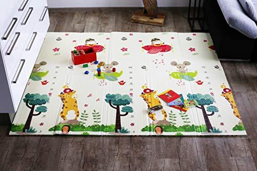 Spielmatte Baby Schadstofffrei Elternstolz Babymatte Spielteppich Spielzeug Ab 0 Monate Krabbeldecke Spieldecke TÜV Geprüft (L Deluxe 177 x 197 x 1,5 cm)