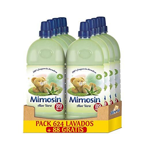 Mimosin Suavizante Concentrado Aloe Vera 78+11 lavados - Pack de 8