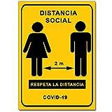 Señalización Coronavirus - Cartel Distancia Social...