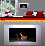 Gel y Etanol Chimenea modelo Roma Deluxe Royal - selección de color (Plata)