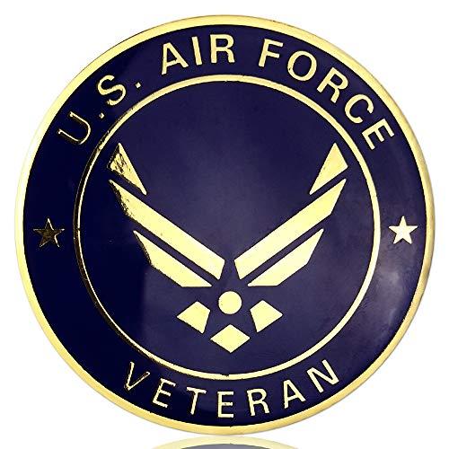 JYG US Air Force Military Car Emblem Military Veteran Metal Car Badge Auto Decal