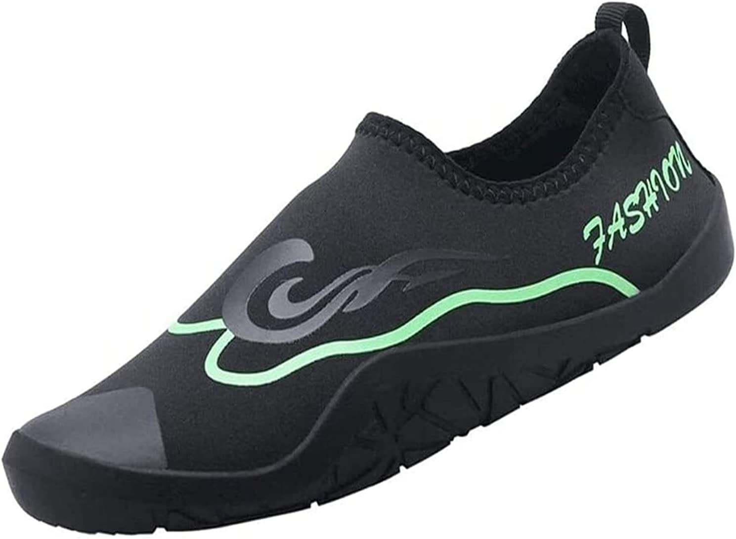 ZCX Water Shoes Water Shoes Barefoot Soft Bottom Shoes Outdoor Beach Shoes Snorkeling Diving Shoes Non-Slip Swimming Shoes for Women Mens Water Shoes (Color : Green, Size : 36 EU)