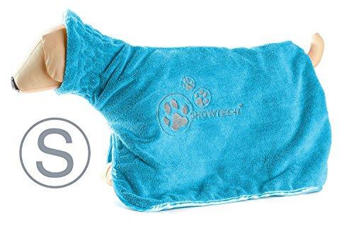 Show Tech Peignoir en Microfibre Dry Dude pour Chien Bleu Taille S