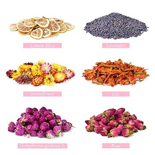 JF Organic Lavender Dried Flower Grain 1 Pound,Suit for Lavender Flower Pillow /& Herbal Tea.