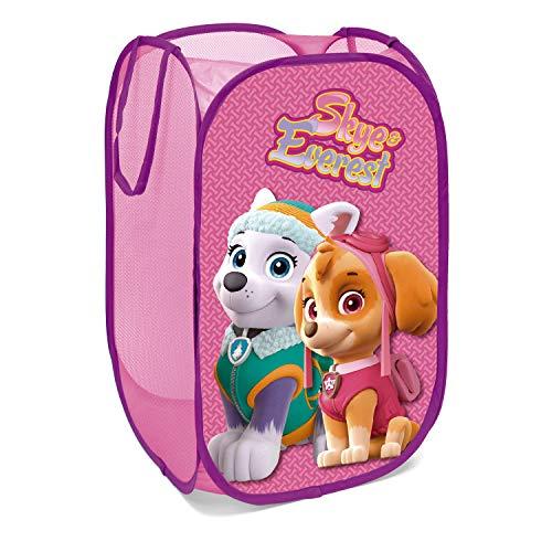 Cesto de ropa para niños rosa de la patrula canina