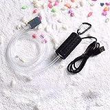 Adeeing Mini USB portatile per acquario, serbatoio di ossigeno pompa ad aria silenziosa a risparmio energetico, accessori (nero)
