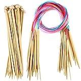 Best Knitting Needle Sets - Knitting Needles Set 18 Pairs 18 Sizes Bamboo Review