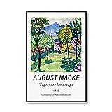 Famoso Macke Tegernsee paisaje cuerda Walker arte impresión carteles e impresiones familia sin marco lienzo pintura E 30x40cm