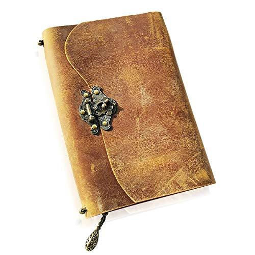 ScrodCat - Diario de piel para escribir con páginas rellenables de cuero...