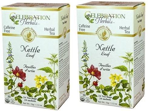 Celebration Herbals Organic Nettle Leaf Tea Caffeine Free, Feuilles Dortie -- 48 Herbal Tea Bags (2 packs of 24)