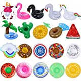 Inflatable Drink Holder 20 Pack Inflatable Drink Floats Cup Holders, Variety Drink Floaties for Summer Pool Party