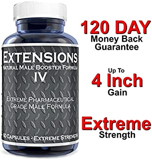 Extensions IV Testosterone Enlargement Booster Increases Energy Mood and Endurance All Natural Performance Supplement for Men