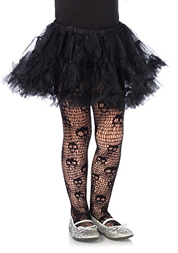 Leg Avenue Collants Enfants Screaming Skull (Medium, EUR 128–140)