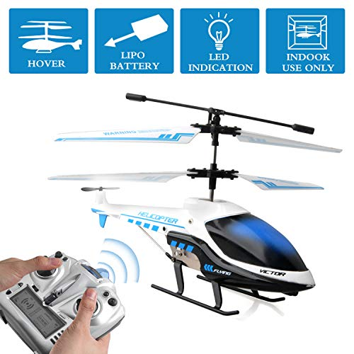 RC Plane,Refial Electric Remote Control Helicopter,Gyro and Led Light 3.6Hz Channel Alloy RC Airplane,Indoor Outdoor Micro Remote Control Plane,Best Toys Gifts for Kids Adults