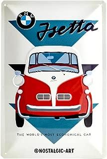 Nostalgic-Art BMW Isetta World's Most Economical. embossed metal sign 12