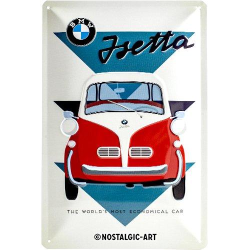 Nostalgic-Art BMW – Isetta – Geschenk-Idee für Auto Zubehör Fans Blechschild, aus Metall, Bunt, 20 x 30 cm