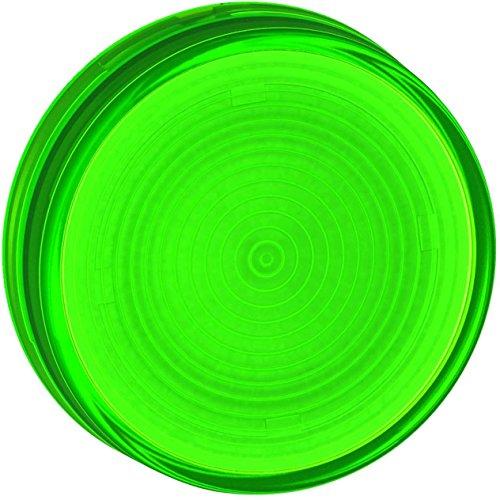 Schneider Electric ZB7EV03 Grooved Lens 30mm Groen, Groen Grooved Lens - Voor Ba9S Pilot Light Ø 30