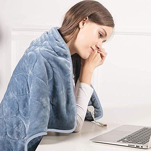 Mantas eléctricas Almohadilla térmica, alfombra térmica con termostato de noveno engranaje para...