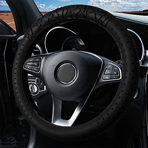 Silicone Car Steering Wheel Cover, 15 inch Elastic Universal Steering Wheel...