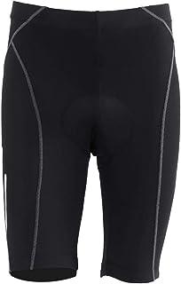 Pantalones Cortos de Ciclismo para Hombres Pantalones de Montar en Bicicleta Acolchados, Mallas de compresión de Silicona Transpirables Pantalones de protección UV de Alta Elasticidad (M) (Negro)