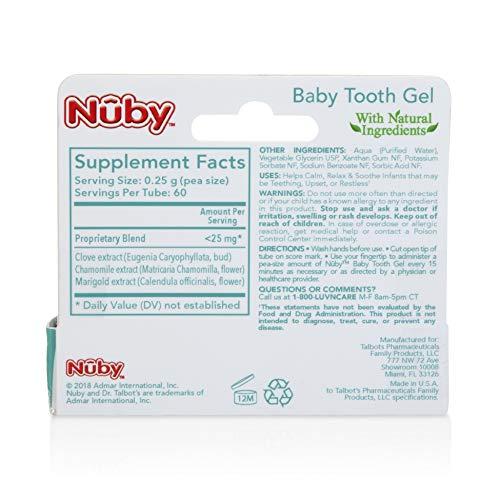 Whats inside Nuby Natural Teething gel