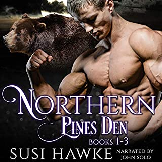 Northern Pines Den Alphas Books 1-3     Northern Pines Den Bundle, Book 1              By:                                                                                                                                 Susi Hawke                               Narrated by:                                                                                                                                 John Solo                      Length: 11 hrs and 13 mins     15 ratings     Overall 4.3