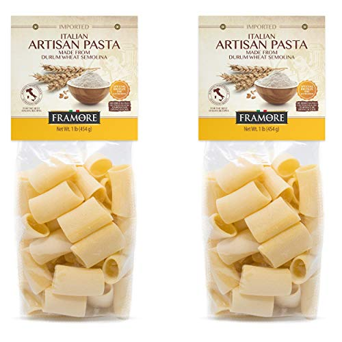 FRAMORE Paccheri Pasta, Imported, Authentic Italian, Artisan Made, Gourmet, Dried