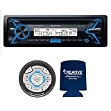 Sony MEX-M100BT CD Receiver with Bluetooth and CPS SRC2 Wired Marine Remote Radios