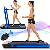 ANCHEER Treadmill, 2 in 1 Under Desk Treadmill, 2.25HP Electric Treadmill, Installation-Free with Bluetooth, Indoor Running Machine Compact Treadmill for Home & Office Use(2021) 2