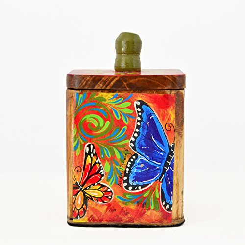 Costa Rican butterflies print: box for sugar bags